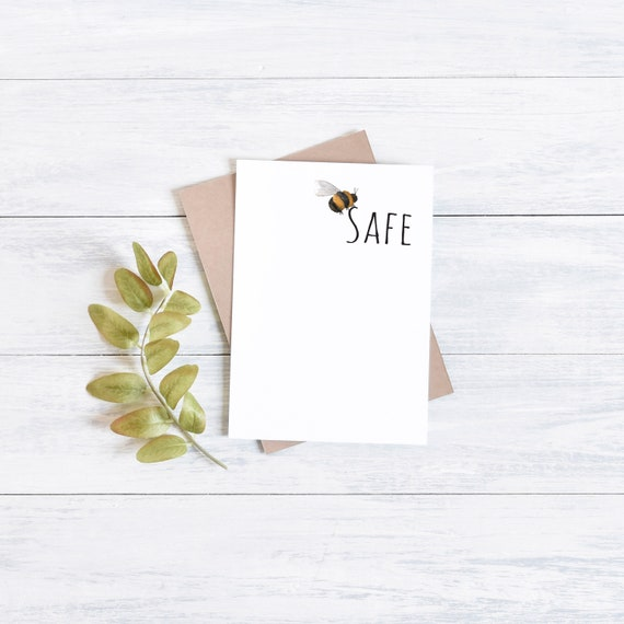 Bee safe, greetings card