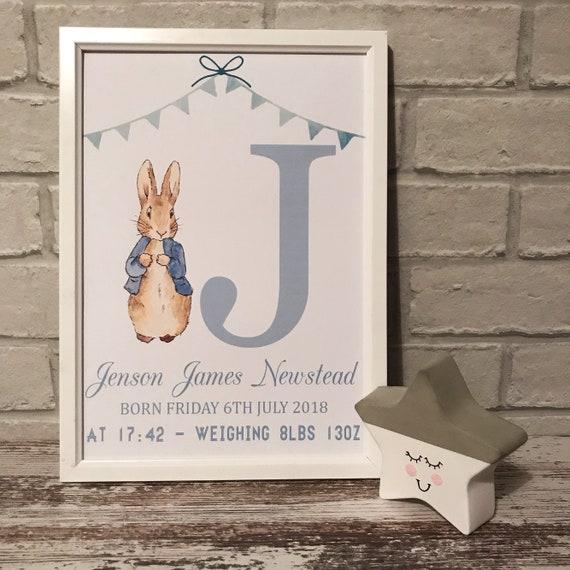 Peter rabbit nursery print, flopsy bunny, peter rabbit