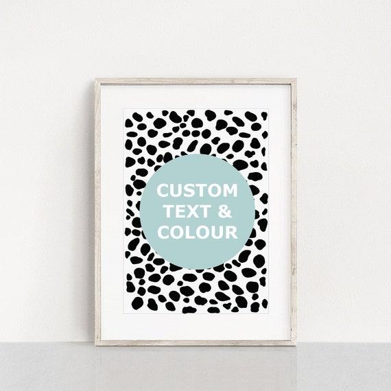 Dalmatian word print, custom word art