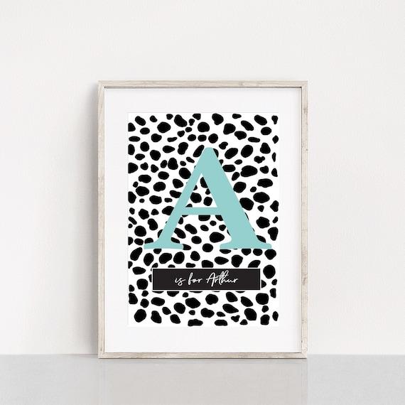 Dalmatian name/letter print, spotty prints