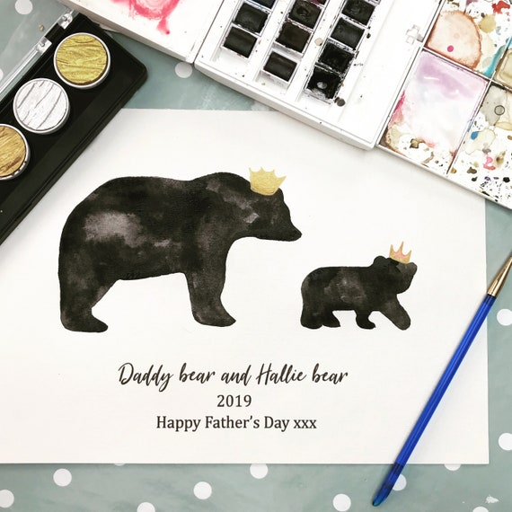Family bear print, bears with crowns