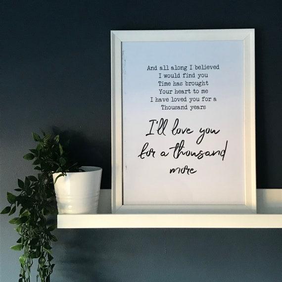 Song lyrics print, personalised music, Wedding song.