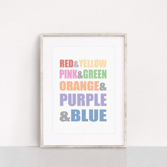 Colours of the rainbow, rainbow print