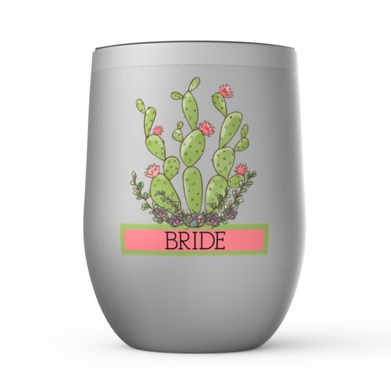 Bridesmaid Bachelorette Gift Wedding Bridal PartyTumbler Coffee Wine Polar Camel