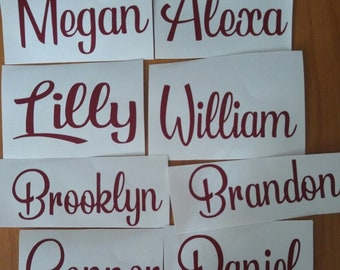 Custom Name Decal For Wine Glass, Personalized Custom Decal, Bridal Party Decals, Bachelorette Party Decal, Wedding Name Decal, Name Decal