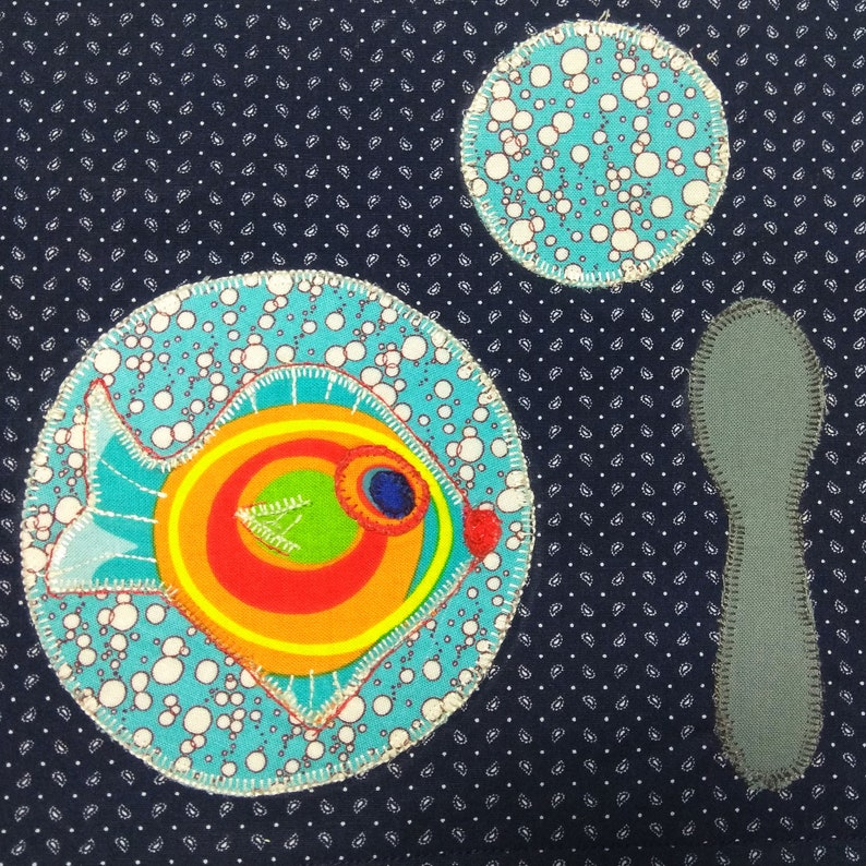 Set montessori baby Placemat materials Learning fish