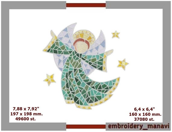Sale  Machine Embroidery Design 3D Angel for children's size 8 x 8