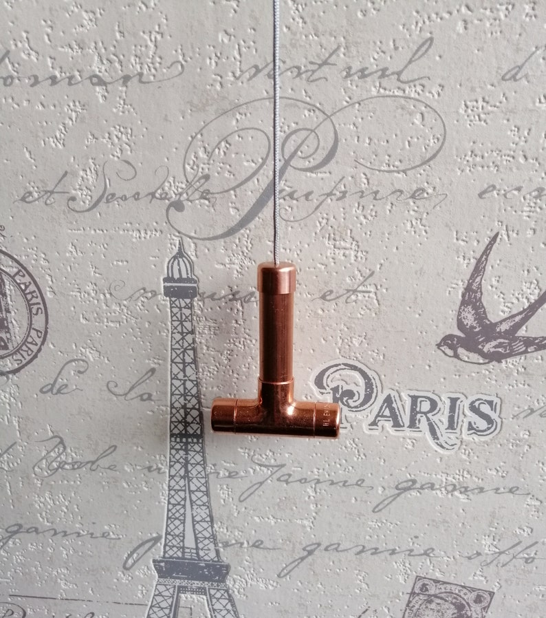 rose gold vintage house warming cottage industrial country t-piece steampunk retro Copper light pull with cord modern switch
