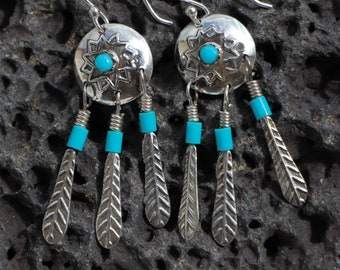 Earrings Native American silver