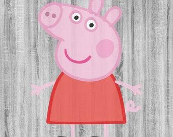 Peppa Pig SVG, Peppa Pig Png, Peppa Pig Clipart, Peppa Pig Design, Peppa Pig Svg Vector, Svg files for Cricut, Silhouette Cameo