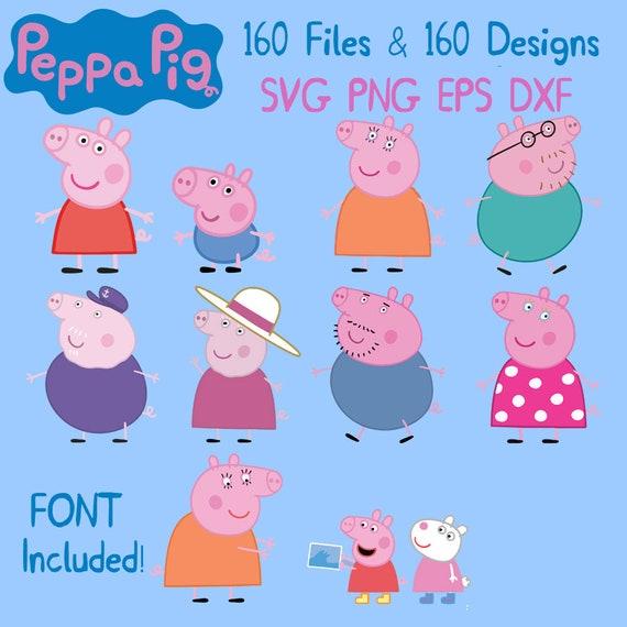 Peppa Pig Bundle Peppa Pig Bubdle Peppa Pig Printable Etsy