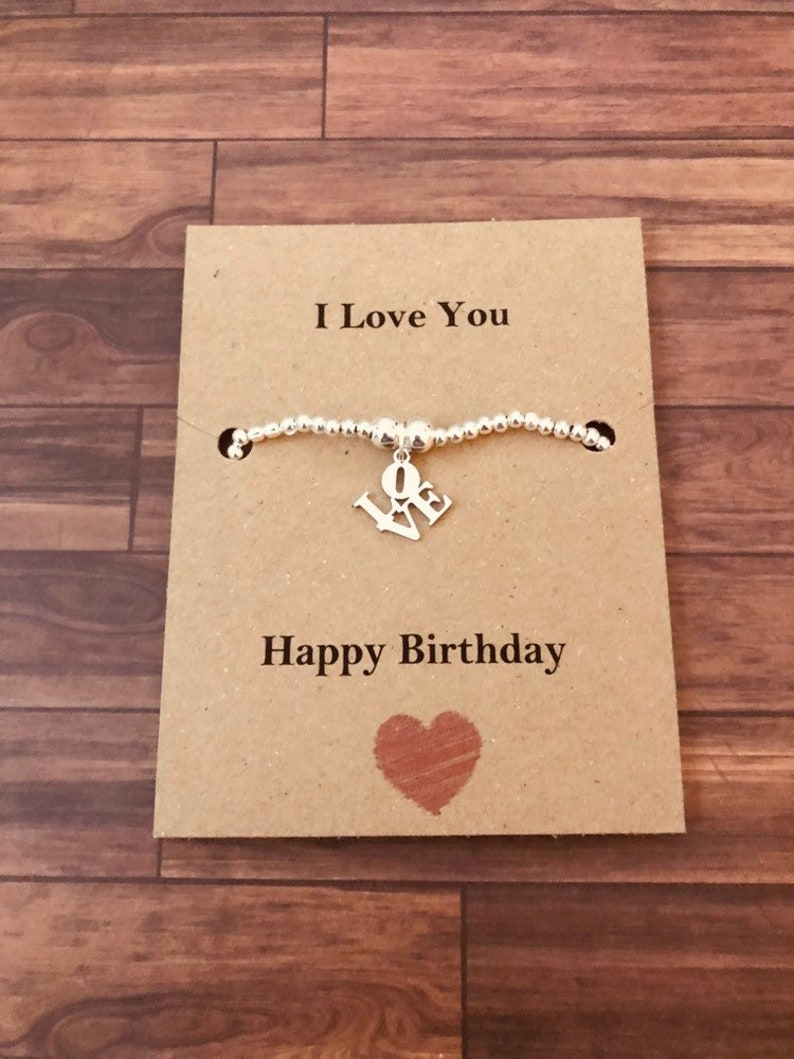 I Love You Bracelet Perfect Birthday Gift For Girlfriend