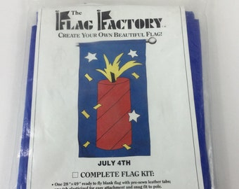 Flag Factory July 4th Flag Kit,America,Independence Day,Sparkler,Candle,Summer,Outdoor Decor,Home,Holidays,Made in USA