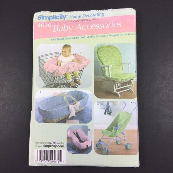 Super Uncut Baby Basket Glider Chair Car Seat Stroller Shopping Cart Cover Insert Sewing Pattern Simplicity 4636 Spiritservingveterans Wood Chair Design Ideas Spiritservingveteransorg