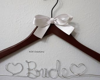 GRAND OPENING SALE Custom Personalized Wedding Hanger for Bride and Bridesmaids, wedding party, mother, flower girl, handmade