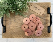 Traditional Cedar Wood Moth Repellent Balls - Large Clothes Hanger Discs - Eco Friendly Compostable - Wardrobe Drawers