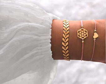 Bracelet Mandala Rosé