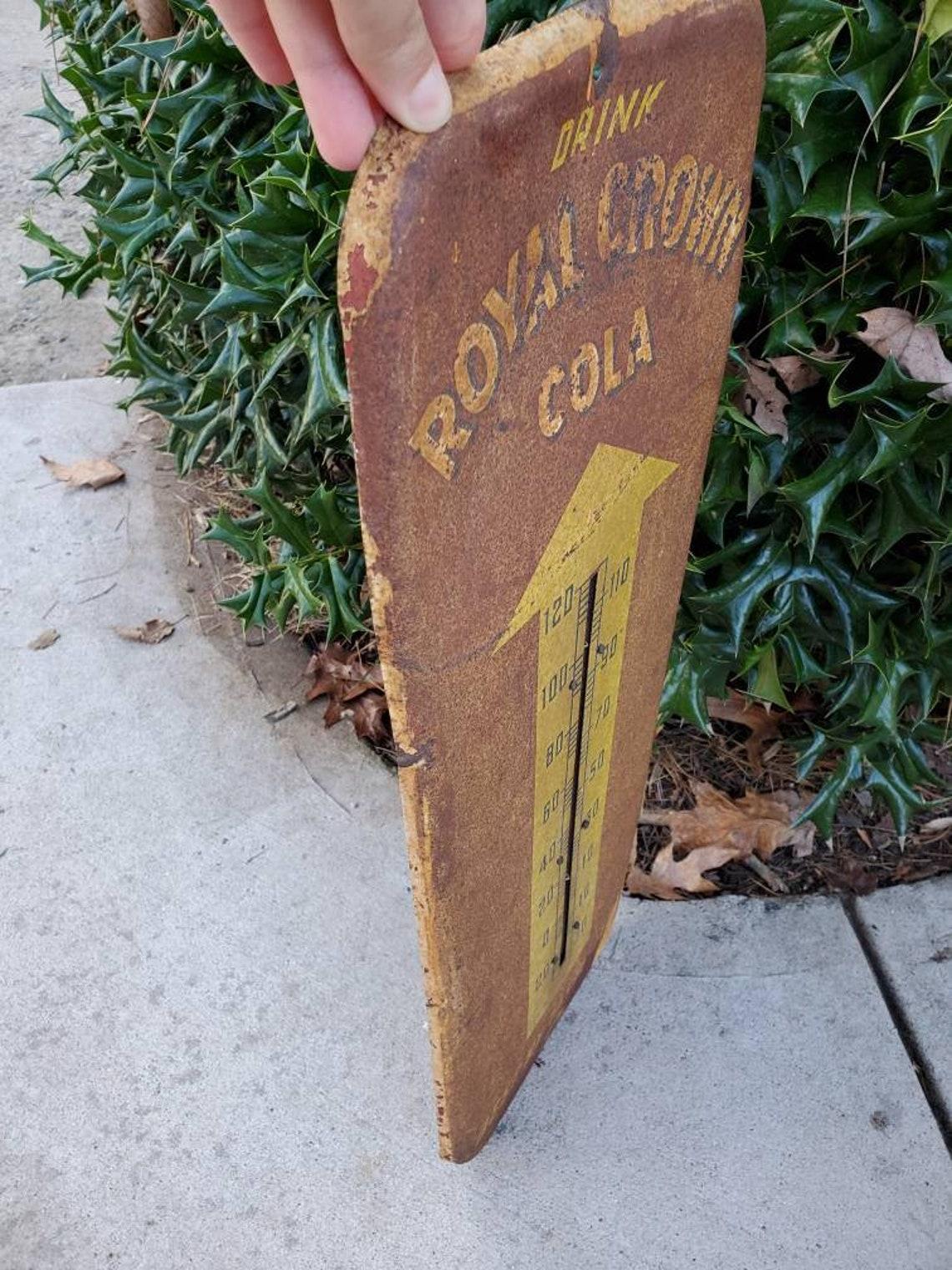 24 PORCELAIN Rc Cola Royal Crown DOOR PUSH SIGN Gas