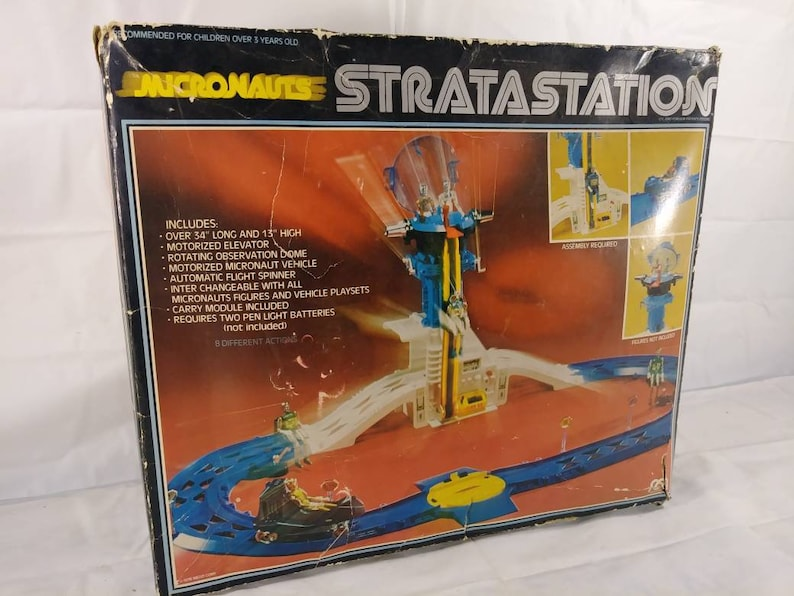 Vintage 1970s Mego Micronauts Stratastation Track Toy Set