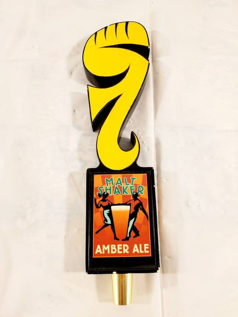 Original Foothills Beer Malt Shaker Amber Ale Beer Tap Handle