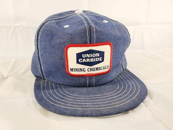 Vintage Union Carbide Chemicals Denim Hat Snapback