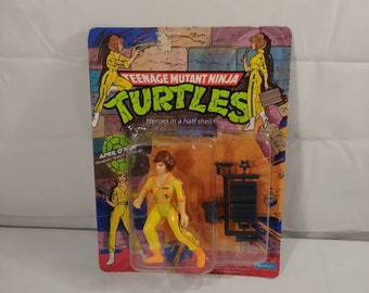 Vintage 1980s NOS TMNT Ninja Turtle April O'Neil Action Figure Toy CIB