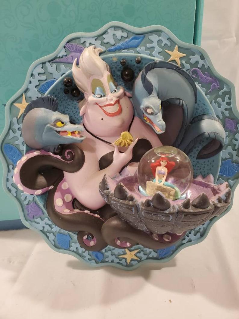 Vintage Walt Disney Little Mermaid 3D Plate Ursulas Spell ...