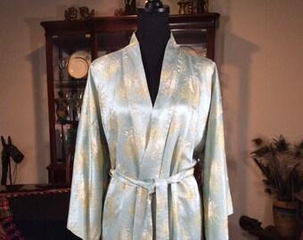 Vintage Japanese Robe  Vintage Silk Robe Nikko Palace Hotel Japanese  M L badc3178a
