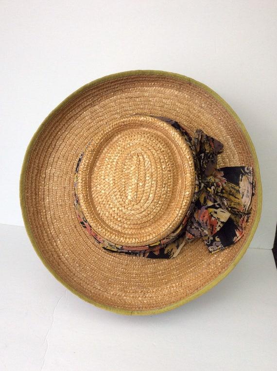 Vintage Straw Hat/Summer Straw Hat - image 10