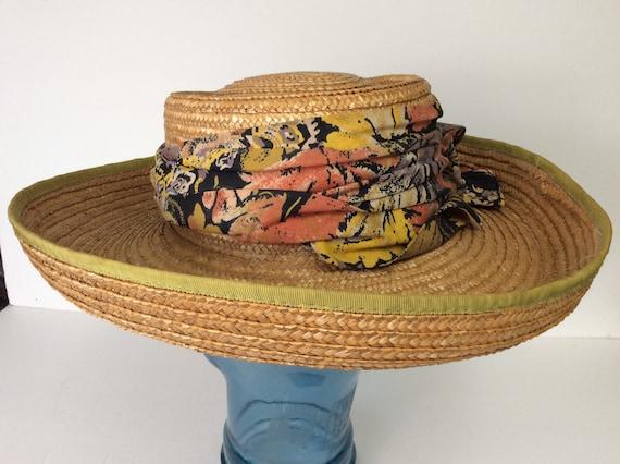 Vintage Straw Hat/Summer Straw Hat - image 4