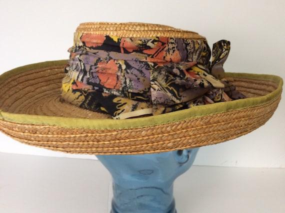 Vintage Straw Hat/Summer Straw Hat - image 5