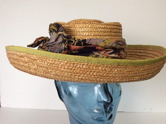 Vintage Straw Hat/Summer Straw Hat - image 7