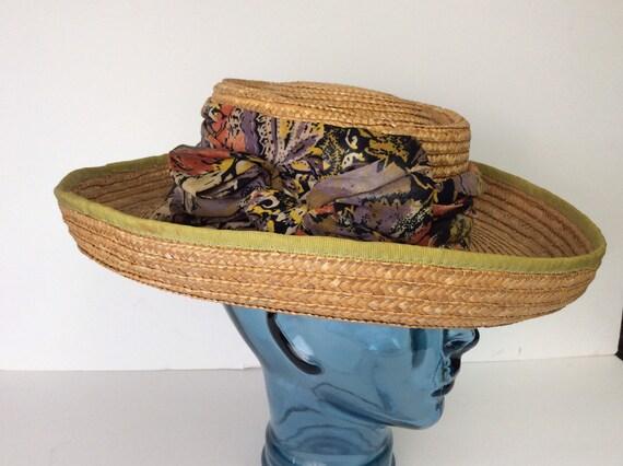 Vintage Straw Hat/Summer Straw Hat - image 2