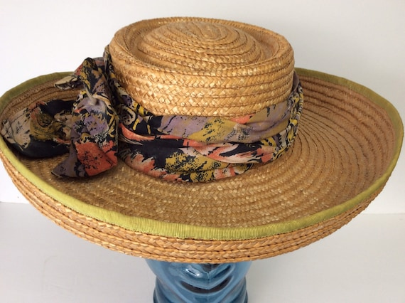 Vintage Straw Hat/Summer Straw Hat - image 1
