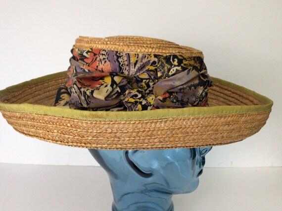 Vintage Straw Hat/Summer Straw Hat - image 6