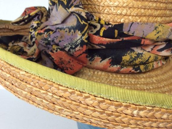 Vintage Straw Hat/Summer Straw Hat - image 8