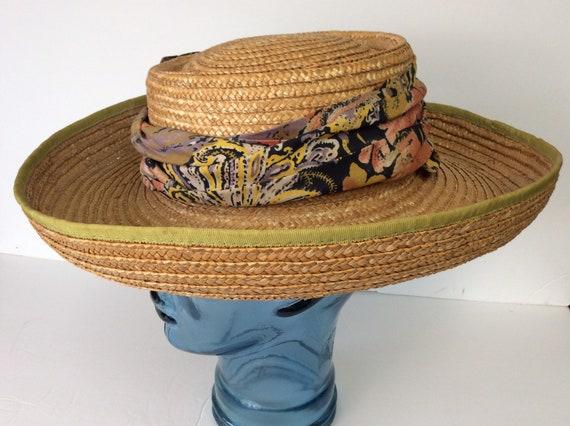 Vintage Straw Hat/Summer Straw Hat - image 3