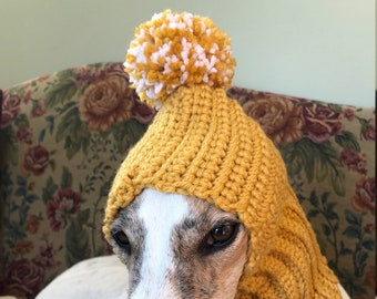 a341352c44513 Greyhound snood with a bouncy pom pom - pick your color - free shipping!