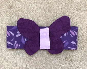 Decorative greyhound neckwear - purple butterfly - purple neckband -  Free Shipping