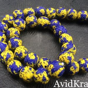 Black and Red round beads 1x0 22 Recycled Glass Beads AvidKrafts Ghana Krobo Glass beads 1315mm diameter African beads