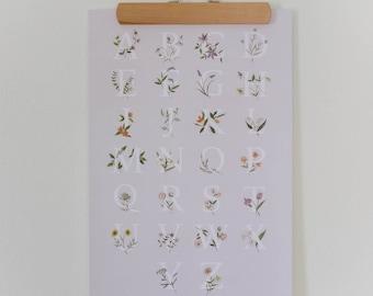 Floral Alphabet Art