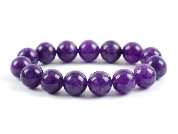 Gemstones Amethyst Bracelet Amethyst Bracelet Minerals Amethyst Crystals Amethyst Bead 8 mm Amethyst Bracelet Gift Heaven Crystals