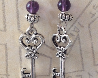 Victorian Key Earrings