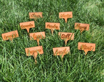 Herb stakes for your garden