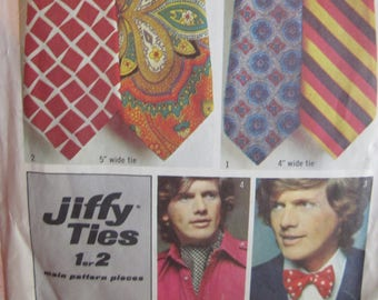 Vintage Neck Bow Tie Ties Simplicity Pattern # 5287 Paper NOT A PDF