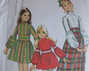 Vintage Girls Party Dress Simplicity Pattern # 5169 Paper NOT A PDF
