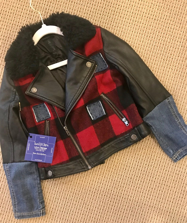 Plaid Rocker Kids Jacket image 0