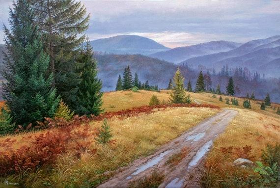 e122f43a8 Oil painting original large Oil painting original landscape | Etsy