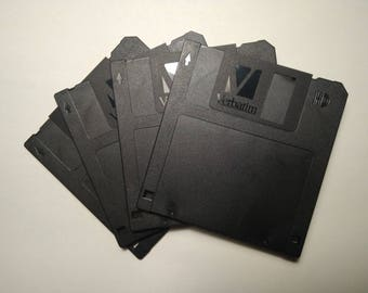 "3.5"" Floppy Diskettes by Verbatim with stylish black plastic doors"