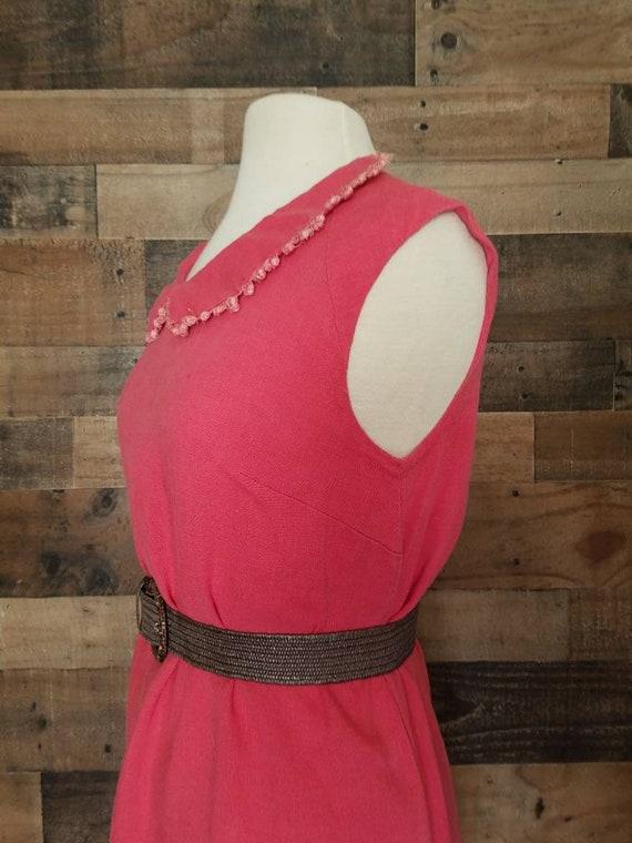 1960's Plus Size Midi Dress* Peter Pan Collar - image 4